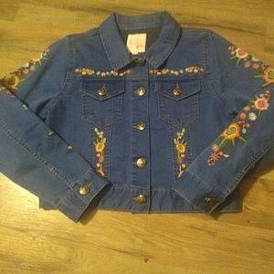 New GB girls jean jacket L